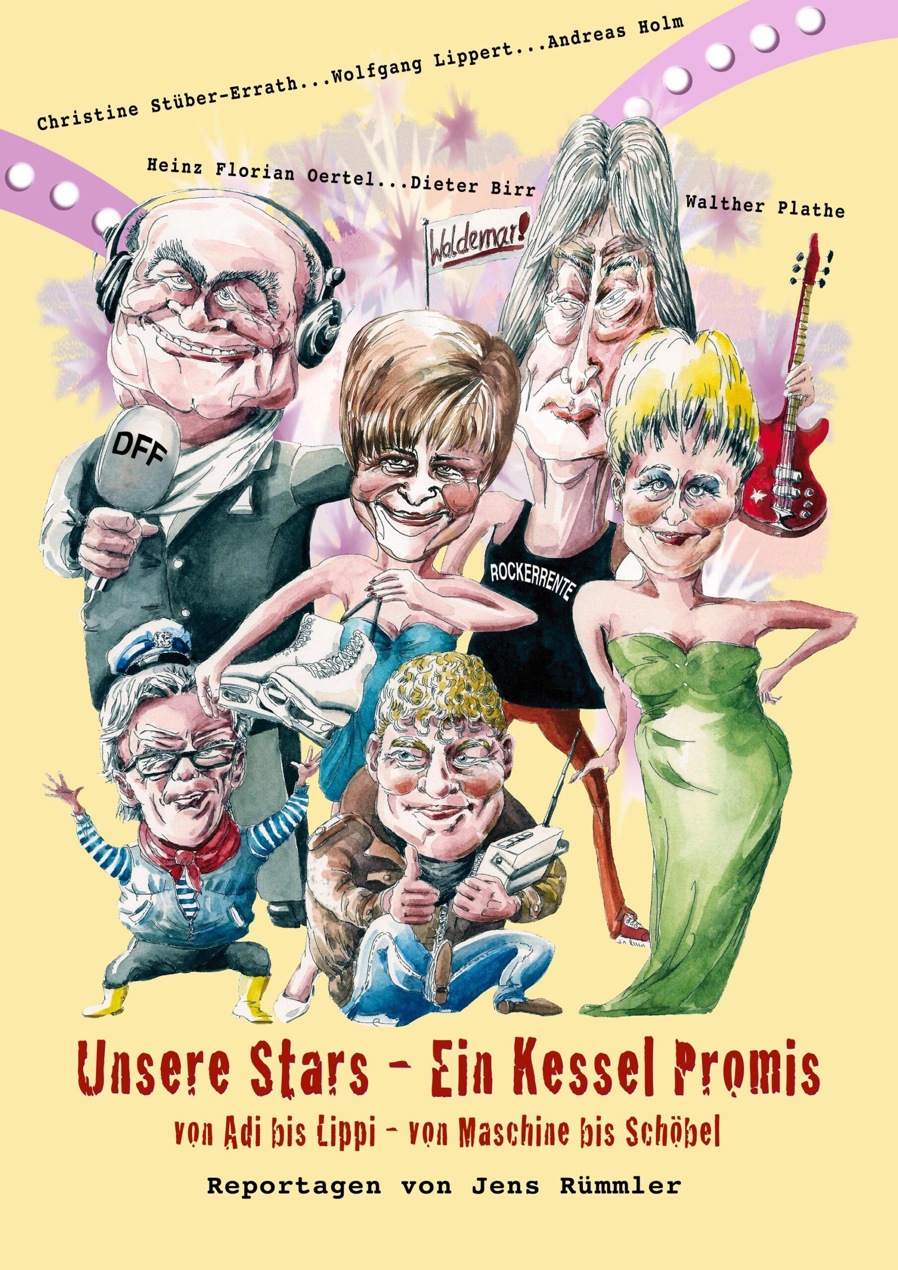 """Buchcover """"Unsere Stars - Ein Kessel Promis"""""""